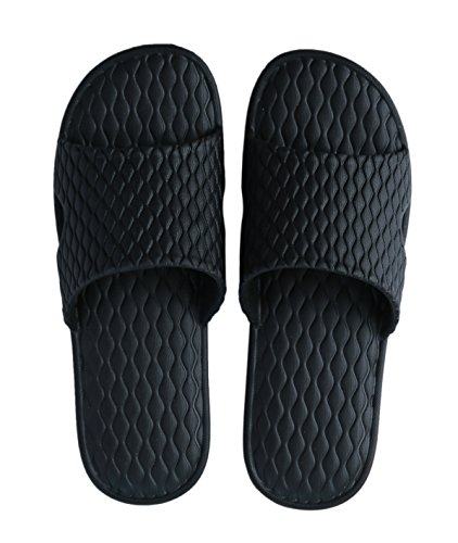 Non Indoor Urban Black Slip Bathroom Shower Slippers Open Slippers CoCo Toe HwFqfPTF