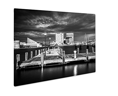 Ashley Giclee Metal Panel Print, Long Exposure Of A Pier And The Inner Harbor In Baltimore Maryland, 8x10, - The & Harborplace Gallery