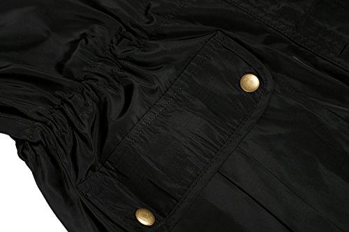 Para Trudge Impermeable schwarz Mujer E Abrigo wxvpCq6a