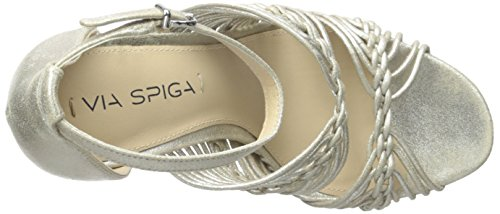 Women's Sandal Spiga Via Dorian Platinum Dress zH5YxxwqZ