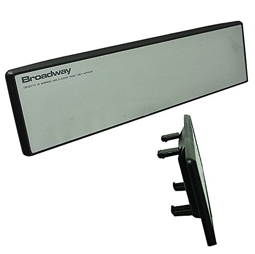 JDM Broadway BW-744 270mm Flat Surface Interior Blind Spot Rear view Mirror SnapOn Easy Install by ICBEAMER
