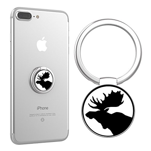 Finger Ring Stand, Moose Holder Ultra-Thin Light Texture Phone Grip Kickstand 360 Degree Phone Ring for iPhone/Samsung/HTC/Nokia/Smartphones/Tablets and IPad