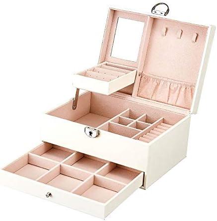 Bracelets Rangement Mariage Anniversaire Cadeau 1 pi/èce Colliers CEXWZQ Bo/îte /à Bijoux pour Femme et Fille Organiseur Portable pour Boucles doreilles