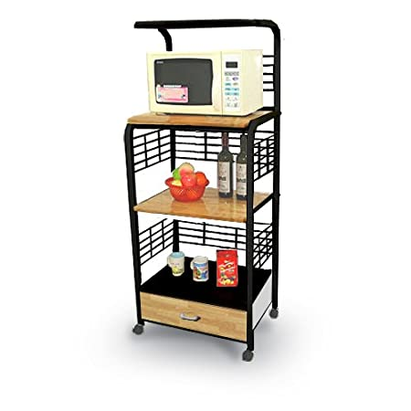 Review Black Kitchen Microwave Cart