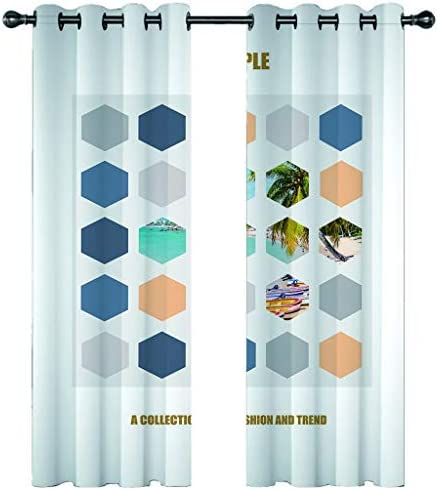 カーテン 遮光カーテン 遮光カーテン、ベッド3D完成遮光カーテンのための熱絶縁グロメット遮光カーテン、 (Color : #7, Size : 336x183cm*2)