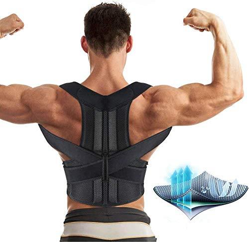 Aptoco Back Brace Posture Corrector for Women and Men Fully Adjustable Support Brace Improves