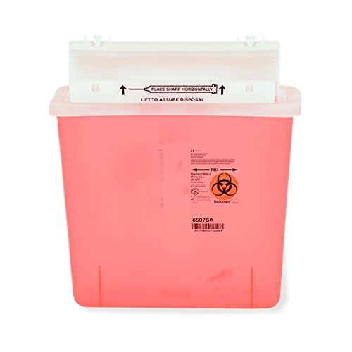 28-GALLON MEDICAL PROFESSIONAL SHARPS RECOVERY SYSTEM WITH SIX 5-QUART SHARPS COLLECTION CONTAINERS (RED) - SHARPS-12861
