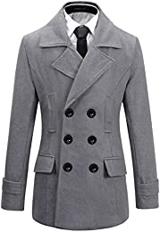 Express Heather Gray Wool Pea Coat - Men&39s Fashion For Less