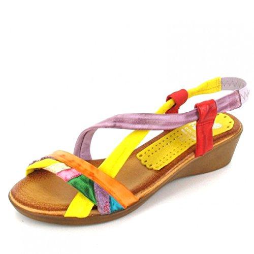 Marila Sandalette Natural, Farbe: mehrfarbig