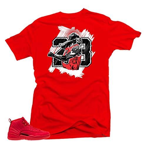 more photos f3206 c60ec SNELOS Shirt to Match Jordan (Jordan 12 Bulls Goat Shirt (Red), XL)