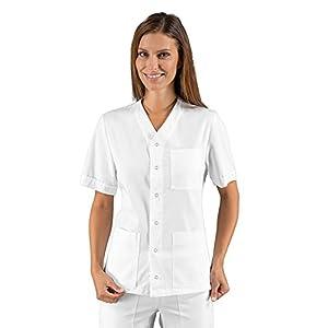 Isacco Tunic Zuoz Unisex White, White, L, 100% Cotton, Half Sleeve