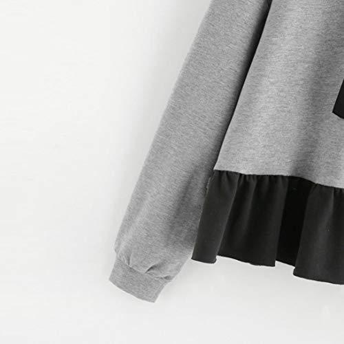 Maglie donna Camicia donna Maniche magliette con beautyjourney cappuccio lunghe Felpe Lunghe maniche eleganti T tumblr tumblr hoodie ragazza S grandi Shirt sweatshirt Donna donna 4vB0wnBqSZ