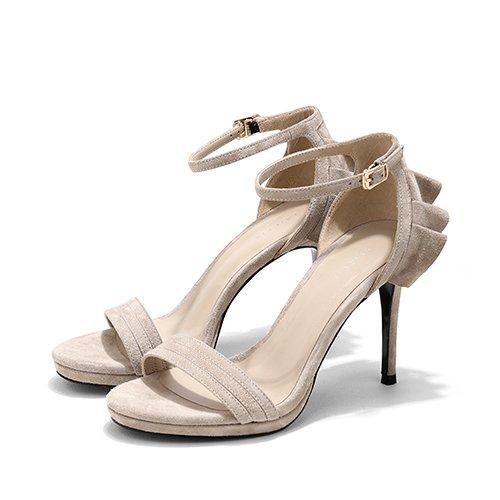 Moda Mujer verano sandalias confortables tacones altos White