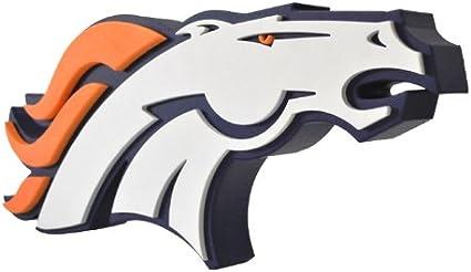Amazon Com Nfl Denver Broncos 3d Foam Logo Sports Fan Home Decor Sports Outdoors