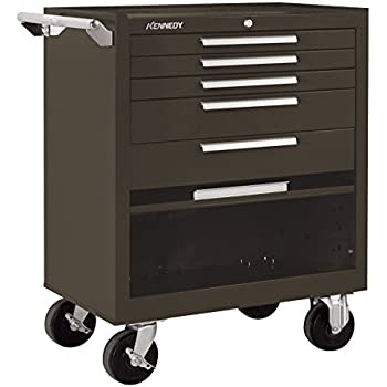 Kennedy Manufacturing 295Xb 5 Drawer Roller Tool Cabinet With Chest Wheels  And Ball Bearing