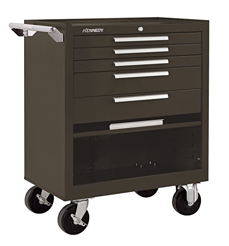 Kennedy Manufacturing 295Xb 5-Drawer Roller Tool Cabinet With Chest Wheels And Ball-Bearing Slides, Brown Wrinkle