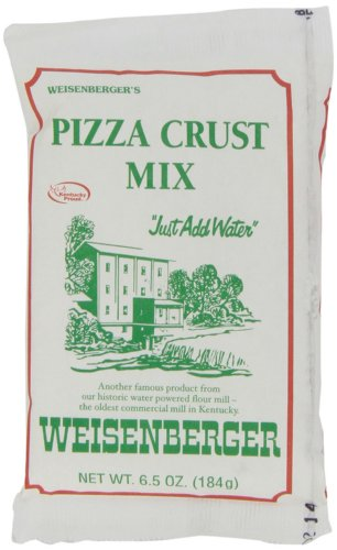 Weisenberger Pizza Crust Mix, 6.5-Ounce - Premade Pizza Dough Flour for Homemade Pizza, Breadsticks, Flatbread, or Calzones - 12 Pack