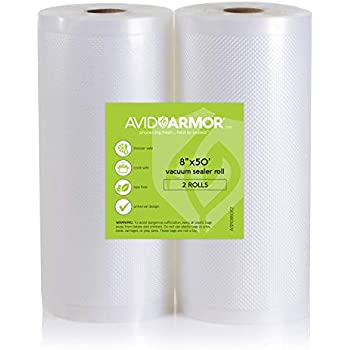 "Amazon.com: Two 8""x50' Vacuum Sealer Bags Rolls for Food"