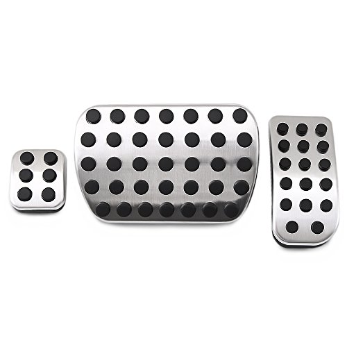 Class Cars V Benz Mercedes (Stainless Steel No Drill Fuel Brake Foot Pedals For Mercedes Benz V Class Vito Metris Viano W447 W639)
