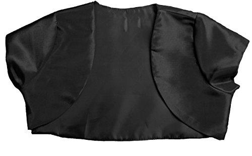 Matching Bolero Shrug Dress Cover Flower Girl Pageant Holiday Black 8