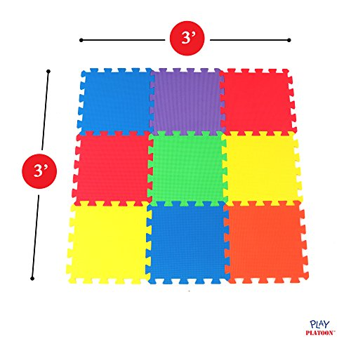 Non Toxic 9 Piece Children Play Amp Exercise Mat Foam Floor