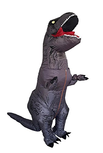 T-Rex Dinosaur Inflatable Costume Halloween Cosplay Blow up Outfit Fancy Dress with 2 Fan Blowers by YOWESHOP (Image #1)