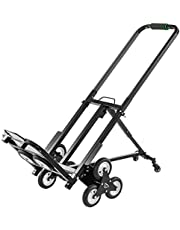 BestEquip Portable 330 LBS Capacity Stair Climbing Cart 30 Inch Folded Height Stair Climber Hand Truck Two Backup Wheels for Easy Climbing