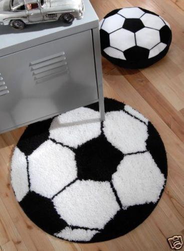 Schwarz/Weiß Fußball Bodenmatte Teppich