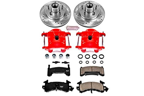(Power Stop KC1482 1-Click Performance Brake Kit with Calipers, Front Only)