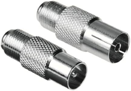 Hama - Juego de adaptadores para cable coaxial (conectores F ...