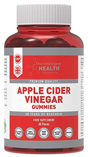 Apple Cider Vinegar Gummies 1000MG with The Mother, Premium Raw Unfiltered ACV, 60 Vegan, Non-GMO Vitamins, Gummy…
