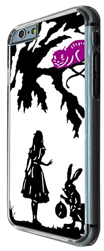 633 - Alice in Wonderland cheshire cat and rabbit Design iphone 6 PLUS / iphone 6 PLUS S 5.5'' Coque Fashion Trend Case Coque Protection Cover plastique et métal