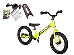 Instant Success. That's what we wanted kids to experience on the Strider 14x Sport. We've assembled all the necessary ingredients to give your tyke a taste of confidence, so your child can successfully shift from riding a balance bike to peda...