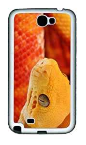 case Cheap price covers Orange Snake TPU White case/cover for samsung galaxy N7100/2