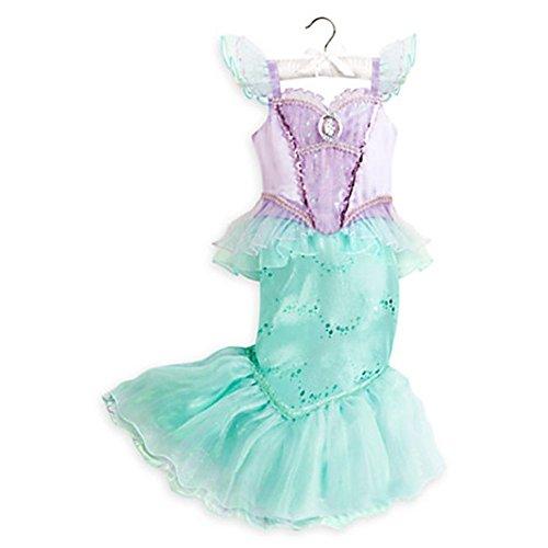 Disney Store Little Girls Little Mermaid Ariel Costume Dress Multi (7/8) (Costumes Store)