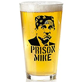 Prison Mike Beer Glass – The Office Merchandise | Funny Mug for Men and Women – Michael Scott Craft Beer Glasses