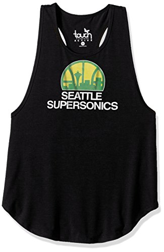 Touch by Alyssa Milano NBA Seattle Supersonics Wishbone Tank, Large, Black