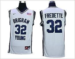 88a0fefae4af ... BYU Cougars 32 Jimmer Fredette White College Jersey Size-M ...