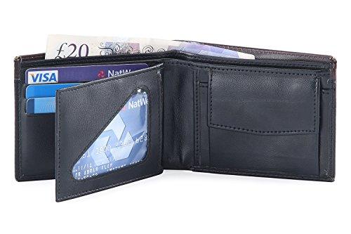 Hide & Sleek Mens Black Artificial Leather Wallet & Card Holder