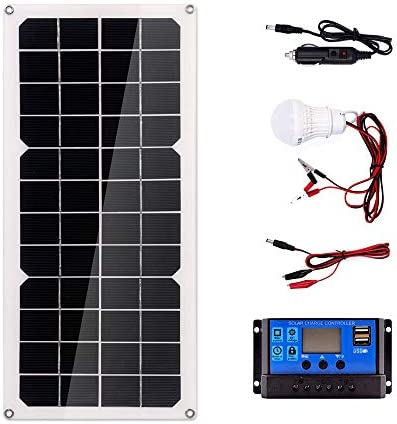 Zhang 100W Solar Panel 18V Dual USB Mit 3W LED-Lampe + 10A USB-Solarregler Laderegler Für Auto Outdoor-Camping-Licht