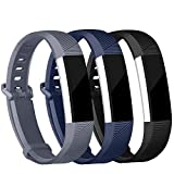 iGK Replacement Bands Compatible for Fitbit Alta and Fitbit Alta HR, Newest Adjustable Sport Strap Smartwatch Fitness Wristbands Black Navy Grey Small