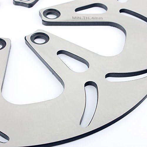 TARAZON Front Rear Brake Rotors Discs for Suzuki VS1400 GL GLP Intruder 1987-2009