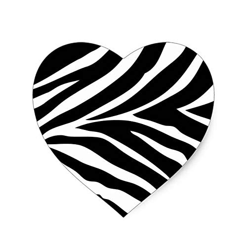 and White Zebra Print Wall Border Clip Art(Heart-Shaped) Mouse Pad 8.6