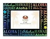 Aloha Hawaii Glass Picture Frame 4'' X 6''