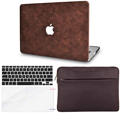 LuvCase 4 in 1 Bundle Hard Shell Case with Sleeve, Keyboard Cover and Screen Protector Compatible MacBook Old Pro 13