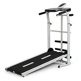 YP Folding Portable Multifunctional Manual Treadmill Fitness...