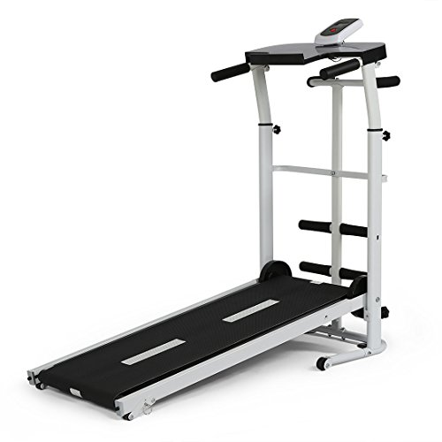 YP Folding Portable Multifunctional Manual Treadmill Fitness Running Machine Cardio Exercise Home Gym Incline