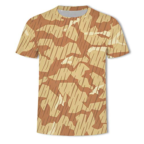 Allywit-Mens Shirts Casual Summer Camouflage Slim Fit Tee Shirt Short Sleeve Muscle T-Shirt Classic T Shirts Tshirts by Allywit-Mens (Image #3)