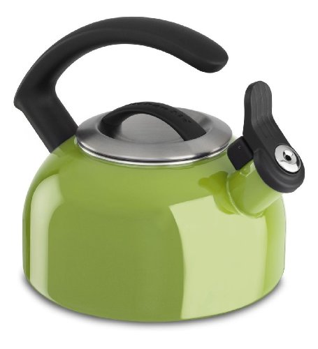 Kitchenaid 1.5-quart Remv Lid Tea Kettle Whistle Kten15ankl Sunkissed Lime Green Gift for Your Family by KitchenAid
