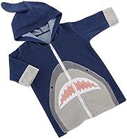Baby Aspen Shark Hooded Beach Zip Up